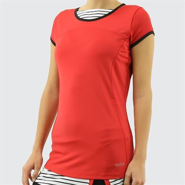 Bolle City Chic Cap Sleeve Top - Bolle Red