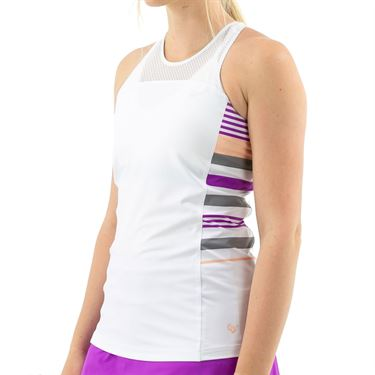 Cross Court Violet Dreams Racerback Tank Womens White 8449 30 0110û