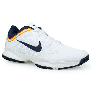 Nike Air Zoom Ultra Mens Tennis Shoe - White/Blackened Blue/Light Cream