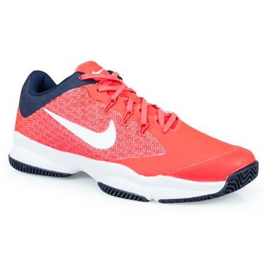 Nike Air Zoom Ultra Mens Tennis Shoe - Bright Crimson/White/Blackened Blue
