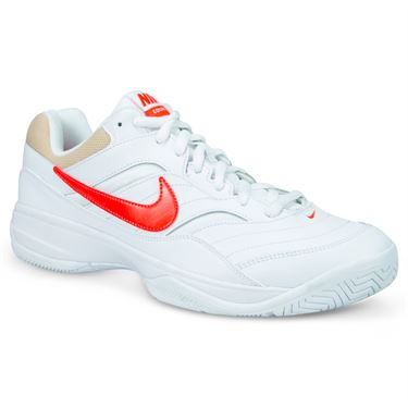 Nike Court Lite Mens Tennis Shoe - White/Bright Crimson/Bio Beige