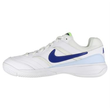 Nike Court Lite Mens Tennis Shoe - White/Indigo Force/Half Blue/Volt Glow