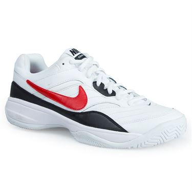 Nike Court Lite Men's Tennis Shoes White / Red / Black (845021 160)