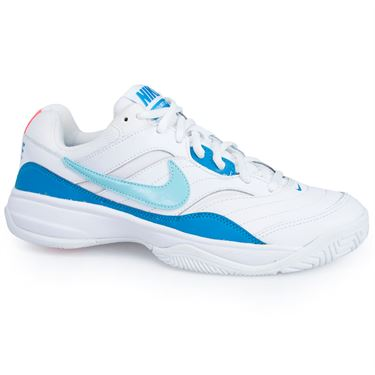 Nike Court Lite Womens Tennis Shoe - White/Bleached Aqua/Neo Turquoise/Hot Lava