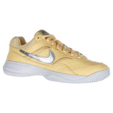 Nike Court Lite Womens Tennis Shoe - Tangerine Tint/Metallic Silver/White