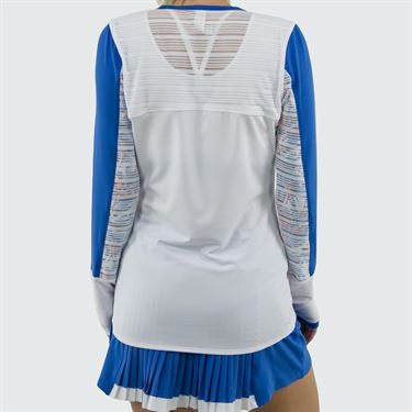 Bolle Maritime Blues Long Sleeve Top Womens White 8456 28 0110