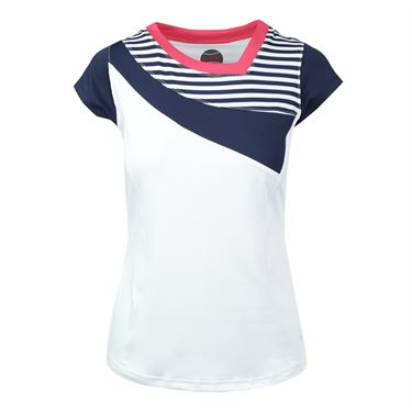 Bolle Tulip Fields Cap Sleeve Top - White