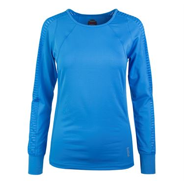 Bolle Paisley Petal Long Sleeve Top - Azure
