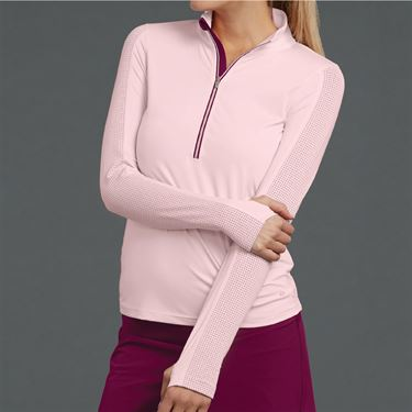 Bolle A Cut Above 1/2 Zip Long Sleeve Top Womens Blush 8481 28 7442