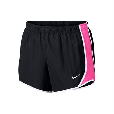 Nike Girls Dry Tempo Short - Black/Laser Fuchsia/White