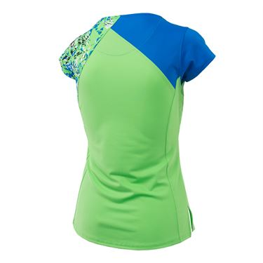 Bolle Painters Palette Cap Sleeve Top - Green