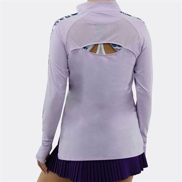 Bolle English Garden Long Sleeve 1/4 Zip Top Womens Orchid 8499 28 3134