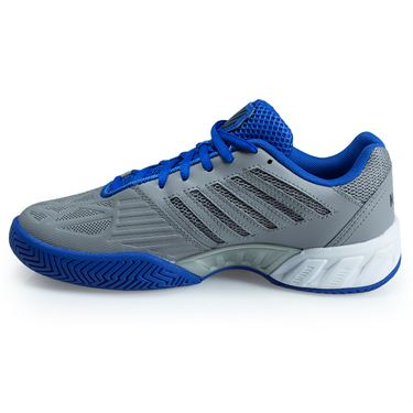 K Swiss Bigshot Light 3 Junior Tennis Shoe - Titanium/ Black/ Strong Blue 85366 036 M