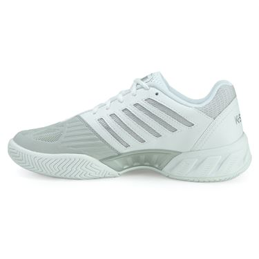 K Swiss Bigshot Light 3 Junior Tennis Shoe - White/Silver