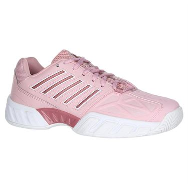 K Swiss Big Kids Bigshot Light 3 Junior Tennis Shoe - Coral Blush/White