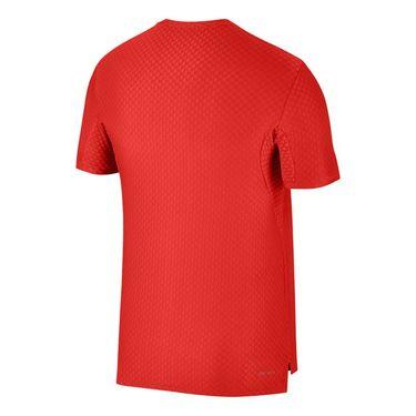 Nike Court Checkered Crew - Habanero Red/Black