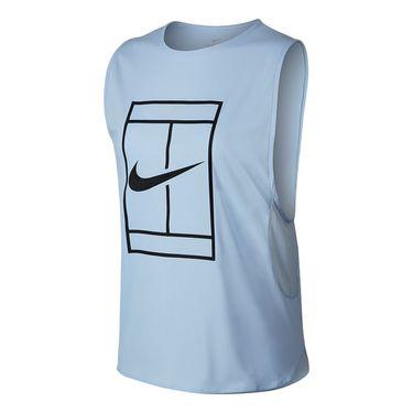 Nike Court Logo Tank - Hydrogen Blue