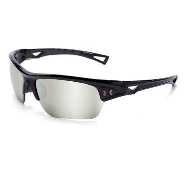 Under Armour Octane Sunglasses - Shiny Black/Charcoal (Frames) Game Day/Chrome Multiflection (Lens)