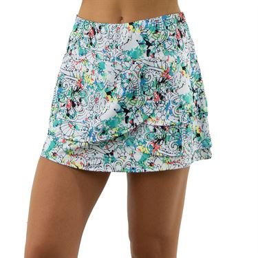 Bolle Magnolia Scoop Layered A Line Skirt Womens Magnolia Print 8604 30 0110