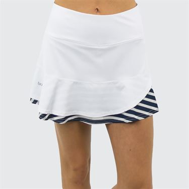 Bolle Admiralty Ruffle Hem Skirt - White