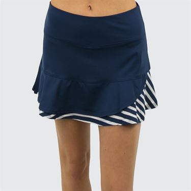 Bolle Admiralty Ruffle Hem Skirt - Navy