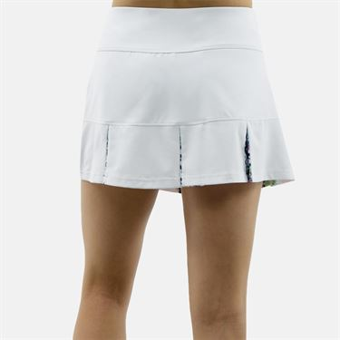 Bolle Ripple Effect 14 Inch Pleat Skirt - White