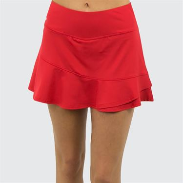 Bolle Stained Glass Flounce Skirt - Red