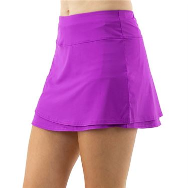 Cross Court Violet Dreams Layered A line Skirt Womens Cactus Flower 8616 3113û