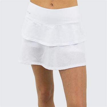 Bolle Club Whites Layered Skirt - White