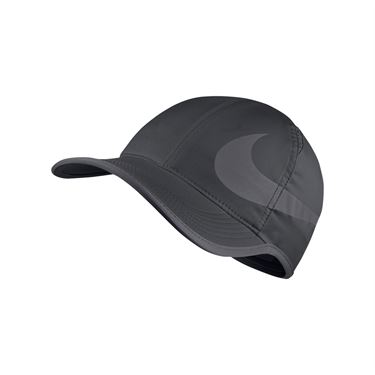 Nike Court Aerobill Featherlight Swoosh Hat - Anthracite/Gunsmoke 864100 060