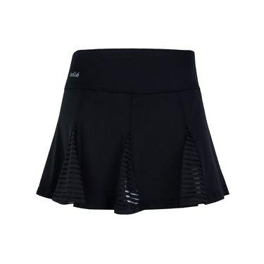 Bolle Paisley Petal Pleated Skirt - Black