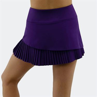 Bolle English Garden Pleated 13 Inch Skirt Womens Purple Haze 8652 28 3159