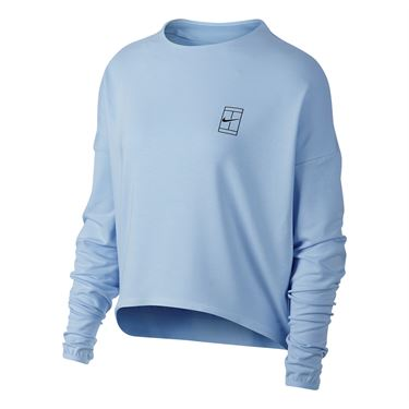 Nike Court Dry Long Sleeve Top - Hydrogen Blue