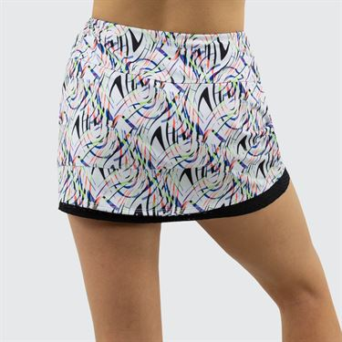 Bolle Brush Strokes Skirt Womens White 8675 29 0110
