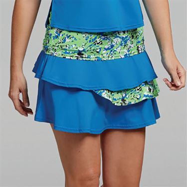 Bolle Painters Palette Layered Flounce Skirt - Electric Blue