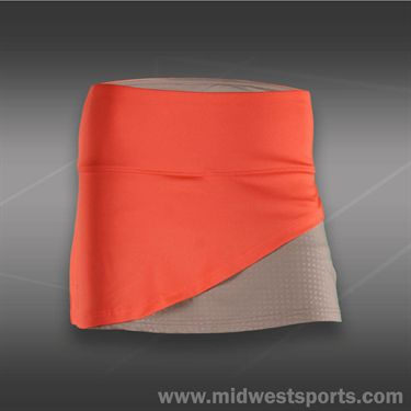 Bolle Wild Fire Front Overlap Skirt - Coral