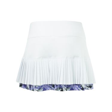 Bolle Purple Passion Pleated Skirt - White