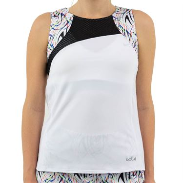Bolle Brush Strokes Tank Womens White 8703 29 0110