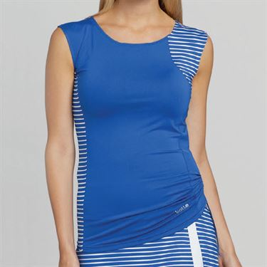 Bolle Wisteria Sleeveless Top - Blue Water/White