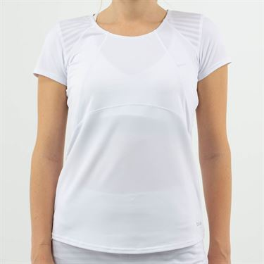 Bolle Club Whites Cap Sleeve Top Womens White 8710 CO 0110