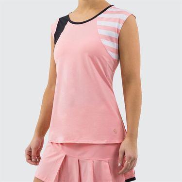 Cross Court Blush Lady Cap Sleeve Top Womens Blush 8715 29 7667