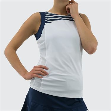 Bolle Admiralty Crew Neck Tank - White