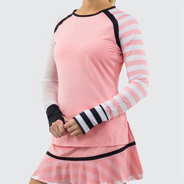 Cross Court Blush Lady Long Sleeve Top Womens Blush 8716 29 7667