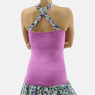 Bolle Ripple Effect Criss Cross Tank - Orchid