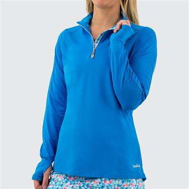 Bolle Blue Bayou Long Sleeve Top Womens Peacock Blue 8727 29 4359