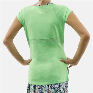 Bolle Ripple Effect Cap Sleeve Top - Mint Green