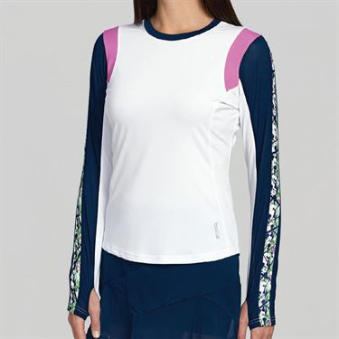Bolle Ripple Effect Long Sleeve Top - White