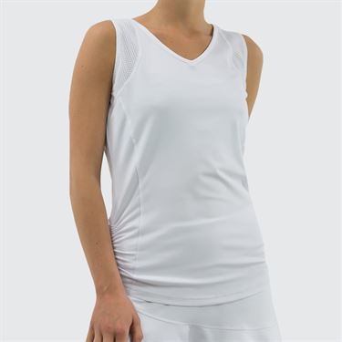 Bolle Club Whites Back Cutout Tank - White