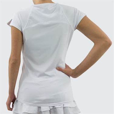 Bolle Club Whites Cap Sleeve Top - White