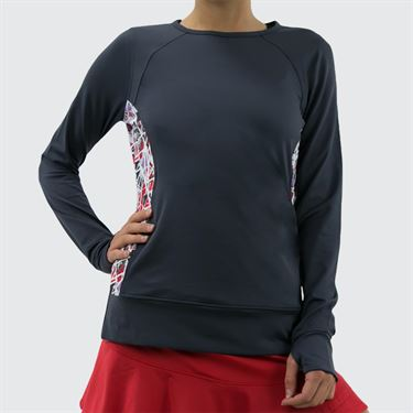 Bolle Stained Glass Long Sleeve Top - Graphite